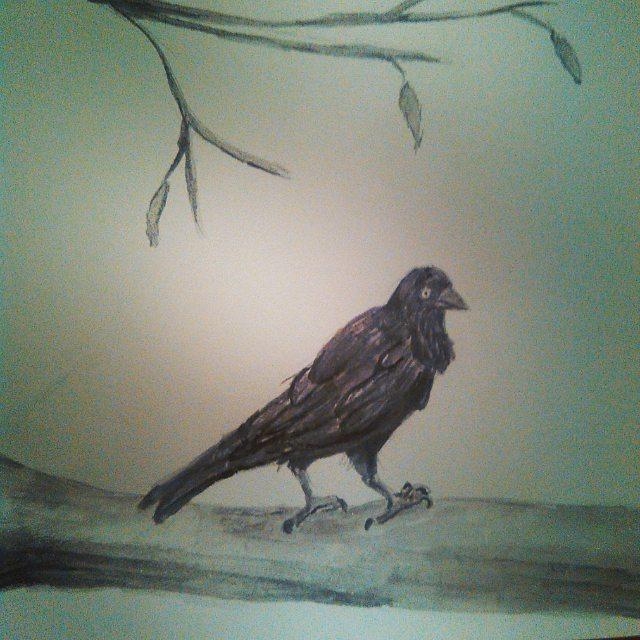 Raven in a Dead Tree