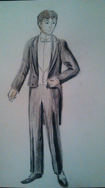 A Concept Sketch: Ethan in White Tie and Tailcoat