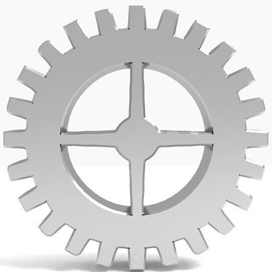 The Gear Logo in Chrome