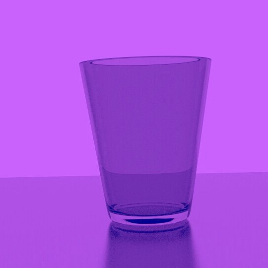 Glass in Purple Bar