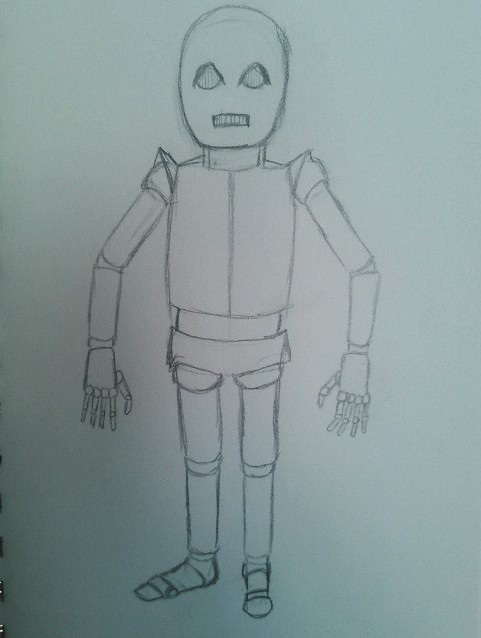 A Concept Sketch of SAM the Android